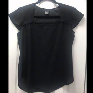 Ann Taylor, semi-sheer black blouse